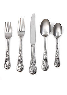 Cambridge Silversmiths Deer Satin 20-Piece Flatware Set - Online Only