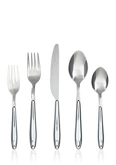 Cambridge Silversmiths Marvel Chrome 20-Piece Flatware Set with Rack