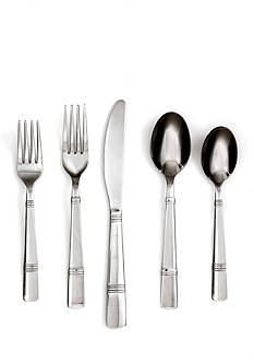 Cambridge Silversmiths Braylen Mirror 62-Piece Flatware Set with Tray