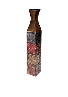 Elements 34-in. Embossed Iron Vase