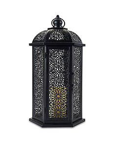 Elements 13-in. LED Metal Lantern