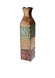 Elements 24-in. Embossed Metal Tile Vase