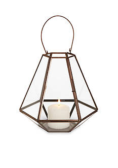 Elements 10-in. Geometric Lantern