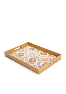 Bombay™ Gold Foil Wood Tray