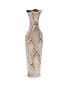 Elements 17-in. Embossed Fan Vase