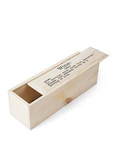 Elements 13.25-in. Sliding Wood Wine Box