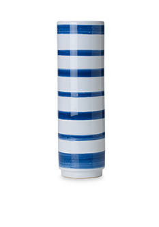 Bombay™ 15-in. Blue and White Stripe Ceramic Vase
