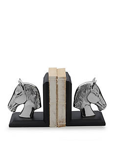 Bombay™ Nickel Horse Book End Set
