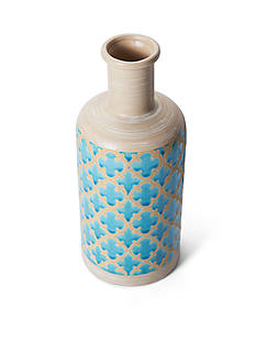 Elements 12-in. Blue Ceramic Vase