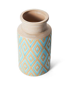 Elements 10-in. Blue Ceramic Vase