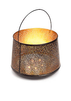 Elements 13-in. Iron Mesh Lantern