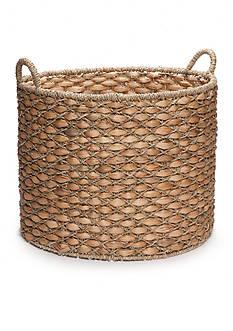 Elements 22-in. Water Hyacinth Beige Oval Basket