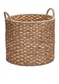 Elements 17-in. Water Hyacinth Beige Oval Basket