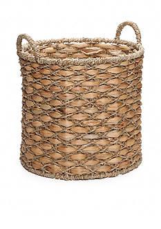 Elements 15-in. Water Hyacinth Beige Oval Basket