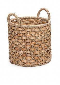Elements 10-in. Water Hyacinth Beige Oval Basket