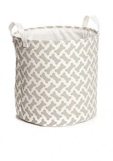 Elements Print Dog Bone Storage Basket