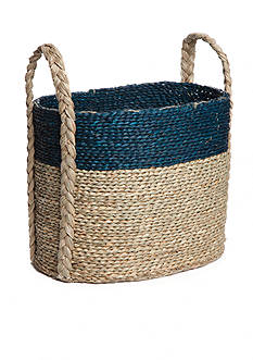 Elements 18-in. Navy Natural Seagrass Basket