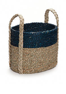 Elements 14-in. Navy Natural Seagrass Basket