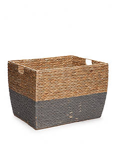 Elements 15-in. Natural Gray Seagrass Basket