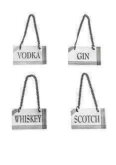 Bombay 4-Piece Brass Barware Tags