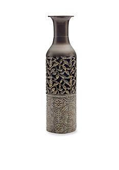 Elements 17-in. Embossed Metal Floor Vase