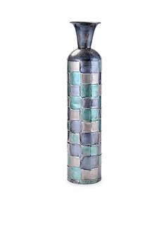 Elements 24-in. Embossed Square Metal Vase