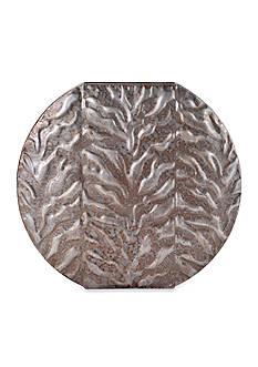 Elements 15-in. Zebra Embossed Metal Vase