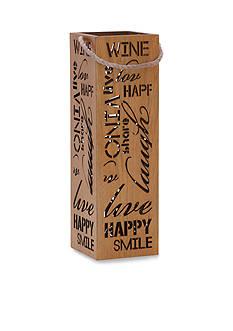 Elements 13-in. Sliding Wood Wine Box