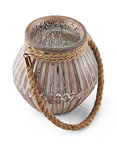 Elements 6-in. Glass Rope Candle Holder