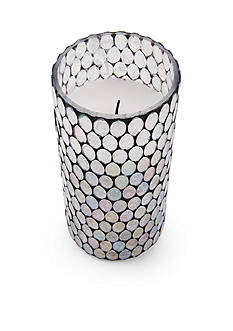 Elements 10-in. LED Filled Glass Candle
