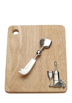 Bombay 2-Piece Wine and Grape Cutting Board and Cheese Spreader Set