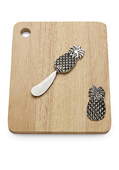 Bombay 2-Piece Pineapple Cutting Board and Cheese Spreader Set