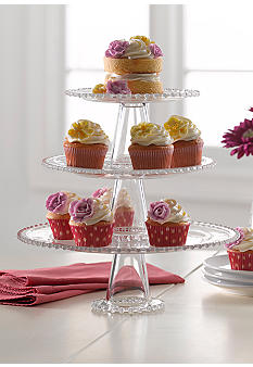 Home Accents 3 Tier Beaded Server