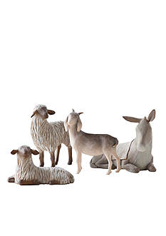 Willow Tree Sheltering Animals for the Holy Family - Set of 4