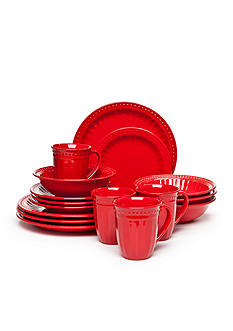 Home Accents Palace Red 16-Piece Dinnerware Set