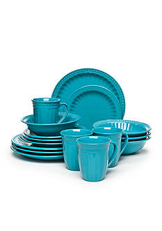 Home Accents Palace Turquoise 16-Pc Dinnerware Set