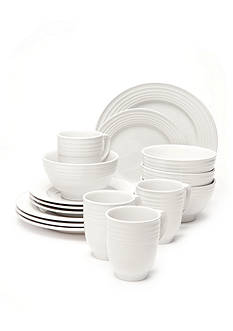 Home Accents Loft White 16-Piece Dinnerware Set