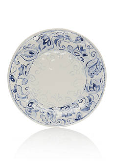 Home Accents Blue & White Paisley Dinner Plate