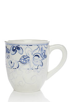 Home Accents Blue & White Paisley Mug