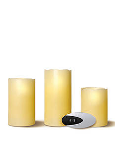 Order™ Home Collection 3-Piece Flameless Candle With Remote