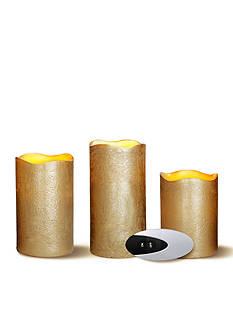 Order™ Home Collection 4-Piece Flameless Candle with Remote