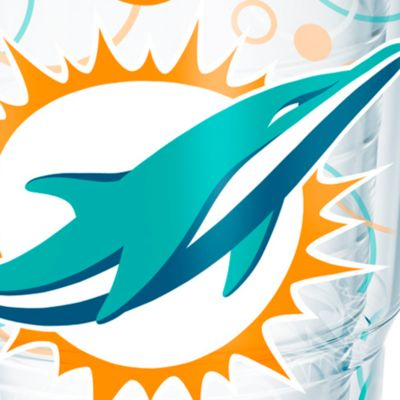 Tableware: Drinkware: Miami      Dolphins Tervis 24-oz. NFL Bubble Up Tumbler