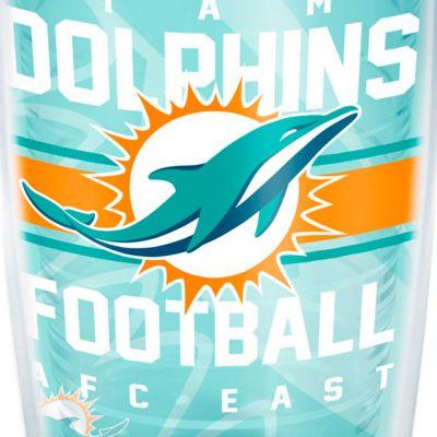 Coffee Tumbler: Miami      Dolphins Tervis 16-oz. NFL Gridiron Tumbler