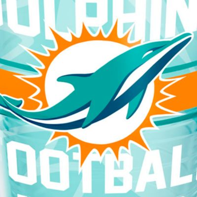 Coffee Tumbler: Miami      Dolphins Tervis 24-oz. NFL Gridiron Tumbler