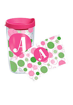 Tervis Tumbler 16 Oz Monogram Dot Wrap - More Letters Available