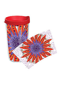 Tervis Tumbler Flower Burst Red & Purple 16-oz. Tumbler with Travel Lid