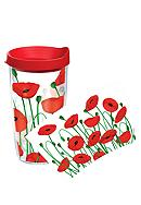 Tervis Tumbler Poppies 16-oz. Tumbler with Red Travel Lid<br>