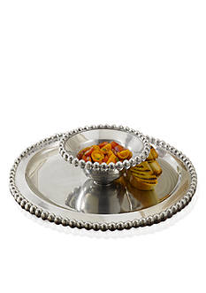 Biltmore Big Bead Chip & Dip Silver Server