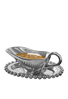 Biltmore® For Your Home Beaded Gravy Boat and Tray