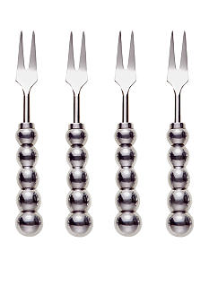 Biltmore For Your Home Big Bead Set of 4 Appetizer Forks